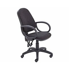 TC Office Calypso High Back Twin Lever Operator Chair with Fixed Arms Charcoal