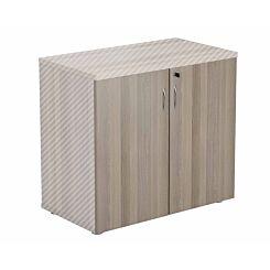 TC Office Lockable Doors for 730mm High Bookcase Grey Oak Effect