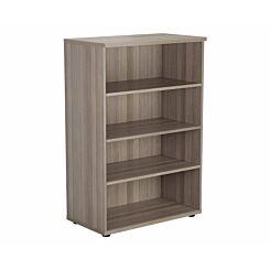 TC Office Bookcase with 3 Shelves Height 1200mm Grey Oak Effect