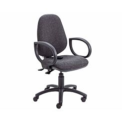 TC Office Calypso Twin Lever Ergonomic Chair with Lumbar Pump and Fixed Arms