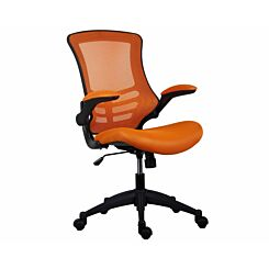 TC Office Marlos Mesh Task Chair with Folding Arms Orange