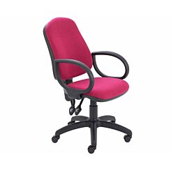 TC Office Calypso High Back Twin Lever Operator Chair with Fixed Arms Claret