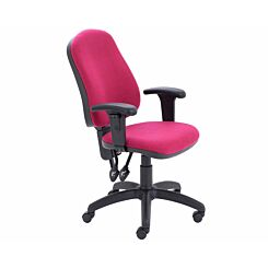 TC Office Calypso High Back Twin Lever Operator Chair with Height Adjustable Arms Claret