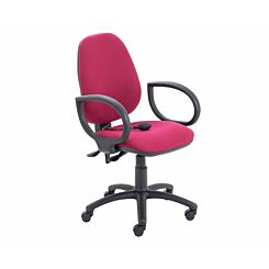TC Office Calypso Twin Lever Ergonomic Chair with Lumbar Pump and Fixed Arms Claret