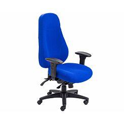 TC Office Cheetah Ergonomic 24 Hour Task Chair Dark Blue
