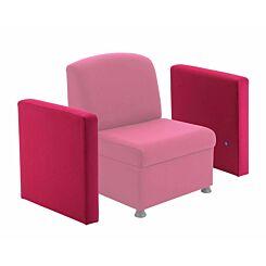 TC Office Single Glacier Arm for Modular Reception Chair Claret