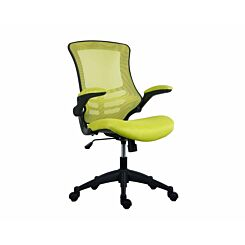 TC Office Marlos Mesh Task Chair with Folding Arms Green