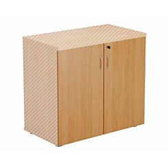 TC Office Lockable Doors for 730mm High Bookcase Beech