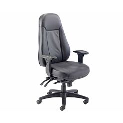 TC Office Cheetah Ergonomic 24 Hour Task Leather Chair