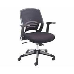 TC Office Carbon Mesh Task Swivel Chair with Folding Arms