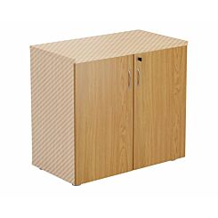 TC Office Lockable Doors for 730mm High Bookcase Oak