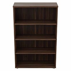 TC Office Regent Bookcase 3 Shelves Height 1600mm Dark Walnut