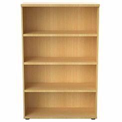 TC Office Regent Bookcase 3 Shelves Height 1600mm Oak