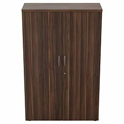 TC Office Regent Cupboard Height 1640mm Dark Walnut