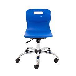 TC Office Titan Swivel Junior Chair with Castors Blue