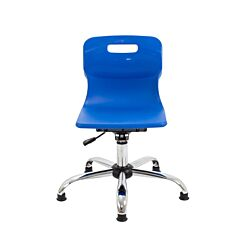 TC Office Titan Swivel Junior Chair with Glides Blue