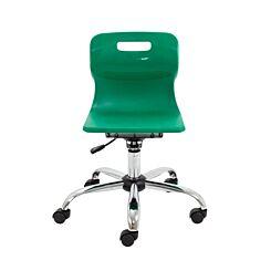 TC Office Titan Swivel Junior Chair with Castors Green