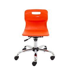 TC Office Titan Swivel Junior Chair with Castors Orange