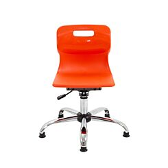 TC Office Titan Swivel Junior Chair with Glides Orange