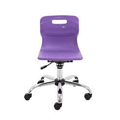 TC Office Titan Swivel Junior Chair with Castors Purple