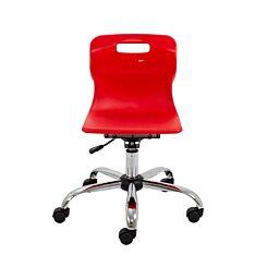 TC Office Titan Swivel Junior Chair with Castors Red