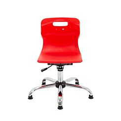 TC Office Titan Swivel Junior Chair with Glides Red