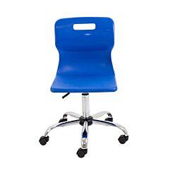 TC Office Titan Swivel Senior Chair with Castors 435-525mm Blue
