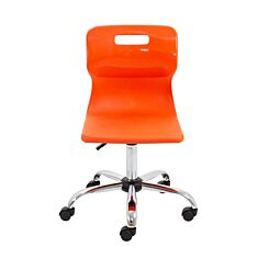 TC Office Titan Swivel Senior Chair with Castors 435-525mm Orange