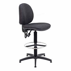 TC Office Concept Mid Back Chair with Fixed Foot Ring