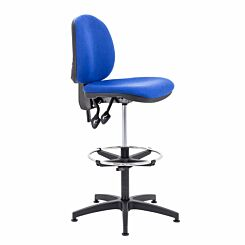 TC Office Concept Mid Back Chair with Adjustable Foot Ring Royal Blue