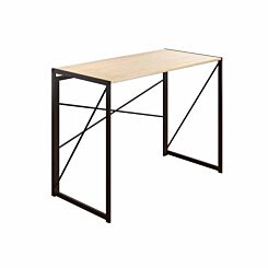 TC Office SOHO Home Working Desk with Cross Supports Oak