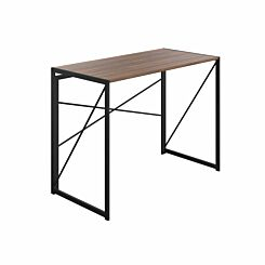 TC Office SOHO Home Working Desk with Cross Supports Walnut