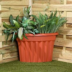 Wham Vista Traditional Corner Planter 49cm Set of 3  Terracotta