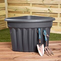 Wham Vista Traditional Corner Planter 49cm Set of 5 Graphite