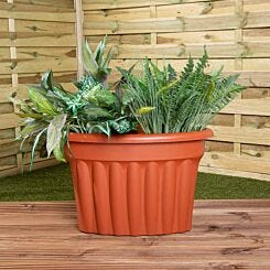 Wham Vista Traditional Corner Planter 49cm Set of 5 Terracotta