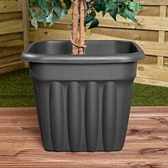 Wham Vista Traditional Square Planter 49cm Set of 3 Graphite
