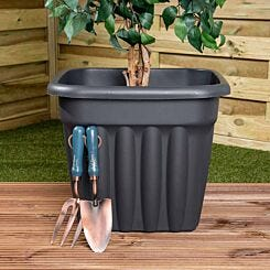 Wham Vista Traditional Square Planter 49cm Set of 5 Graphite