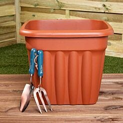 Wham Vista Traditional Square Planter 49cm Set of 5 Terracotta