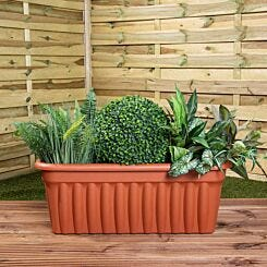 Wham Vista Traditional Trough 80cm Set of 3 Terracotta