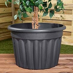 Wham Vista Traditional Round Planter 60cm Set of 3 Graphite
