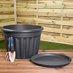 Wham Vista Traditional Round Planter with Tray 60cm Set of 3