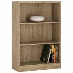 4 You Medium Wide Bookcase Oak Effect