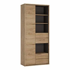 Shetland Tall Wide Door and Drawer Bookcase