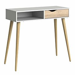 Oslo Console Table with Storage White
