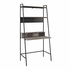 Alzette Modern Wood Ladder Computer Desk 92cm Grey