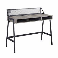 Arques Mesh Back Writing Desk 110cm Slate