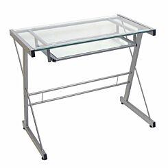 Orne Modern Computer Desk 79cm Silver