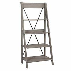 Saulx Solid Wood Ladder Bookshelf 79cm