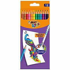 BiC Evolution Illusion Erasable Colouring Pencils 	Pack of 12