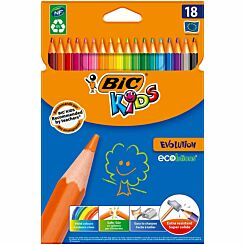 BiC Evolution ECOlutions Colouring Pencils Pack of 18
